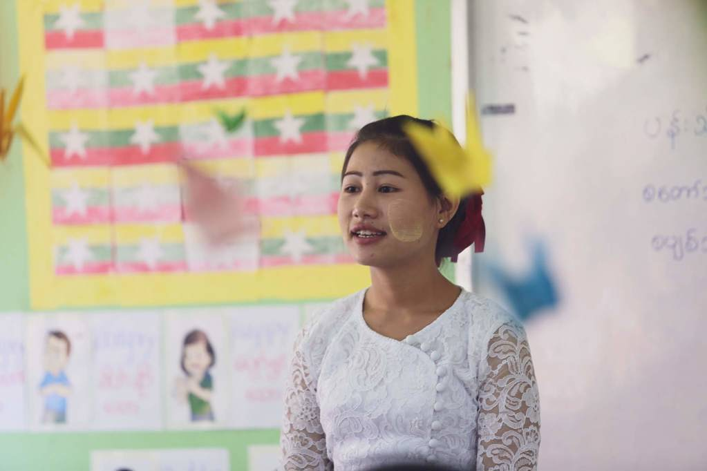 One of our community teachers in Myanmar