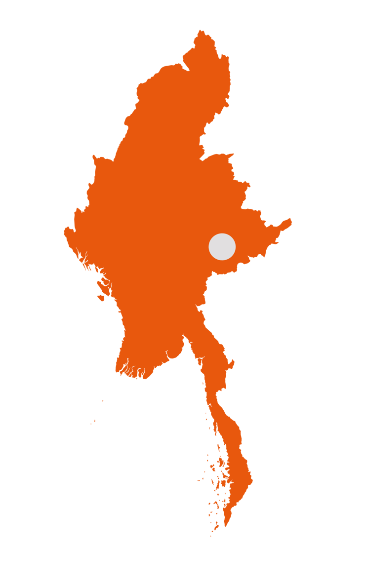 Map of Myanmar regions