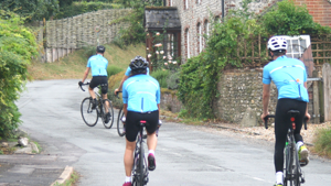 Cyclists pedal 100 miles to raise over £18,000 in support of education during Covid-19